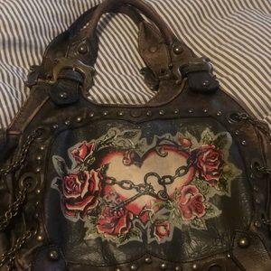 Isabella Fiore tattoo rose handbag